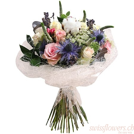 Bouquet Roses & Sisal