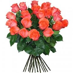 Ein Bund orange Rosen