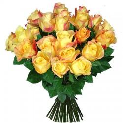 Ein Bund gelbe Rosen