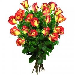 Ein Bund gelbe-orange Rosen