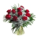 Bouquet Roses rouges gypso