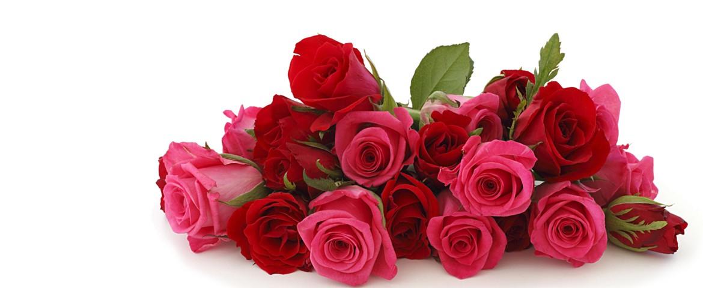Prachvolle Rosensträusse